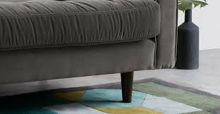 breites sofa breites 2 sitzer sofa samt in betongrau made
