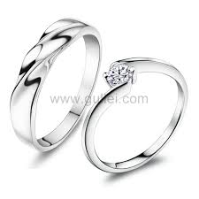 ring with name engraved name engraved curved silver his and hers engagement rings