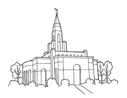 lds temple primary coloring page ldsprimary 534964 coloring