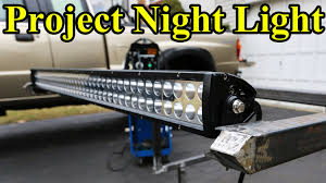 headache rack with light bar custom led light bar build part 1 project night light youtube