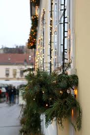 vintage lamp with christmas decoration in tkalciceva street