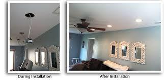 How To Install Recessed Lighting In Ceiling Langhorne Lighting Installation Recessed Lights Electrician