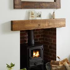oak mantel shelf light sawn rustic solid french beam