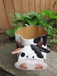cow planter metal bobble 8x5 5 in garden decor yard