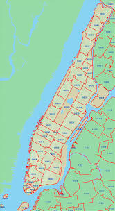 Maps Of New York by Detailed Zip Codes Map Of New York City New York Usa United