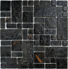 black glass tiles for kitchen backsplashes craft black porcelain wall tiles pcmt089 ceramic mosaic
