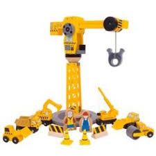 Plan Toys Garage Set by Plan City Crane Set And Construction Vehicles Will Pinterest