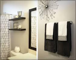 Towel Rack Ideas For Bathroom Bathroom Cool Black And White Bathroom Design Ideas Black And
