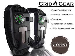 fire survival bracelet images Grid gear 5 in 1 survival military paracord bracelet flint fire JPG