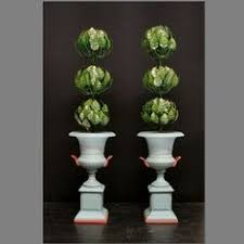 ã tole mariage metal floral topiary antique white hollingate modern tole