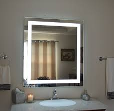Led Lighted Mirrors Bathrooms Illuminated Vanity Mirror Light Up Makeup Led Lightedathroom Wall