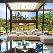 Modern Sunroom Tropical Sunroom Ideas With Garden And Lagoon View Homescorner Com