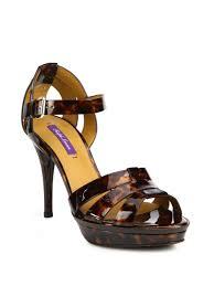 ralph lauren jensen tortoiseshell print shiny leather sandals in