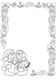 christmas coloring borders pages coloring