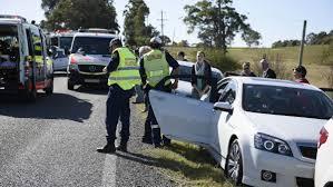 car crash at bill shorten u0027s testers hollow stop photos video