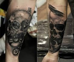 Forearm Skull - gear parts with angry skull on forearm golfian com