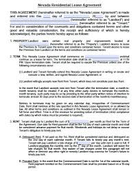 free rental lease agreement download free nevada residential lease agreement form u2013 pdf template