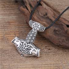skyrim pendant necklace images Thor 39 s hammer mjollnir with teeth barer and teeth grinder necklace jpg