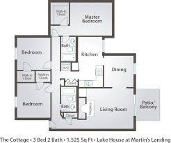 2 Bedroom Lake House Plans