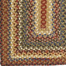 Woven Rugs Cotton Country Primitive Braided Rugs Jute Cotton Ultra Durable Rag