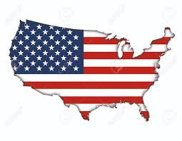 French Flag Banner American Flag Banner Map Icon Of Usa Stock Photo Picture And