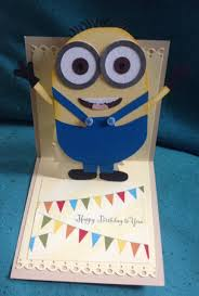 handmade minion inspired exciting happy birthday cards