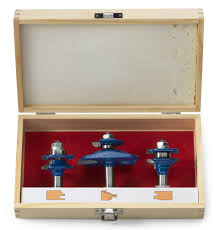 neiko 10111a ogee cutter router bit set 3 piece 1 2