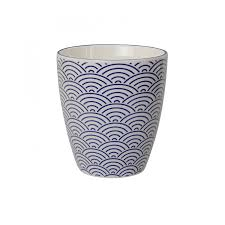 tokyo design studio oriental blue tea coffee cup in porcelain