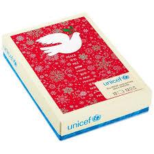 unicef peace dove christmas cards box of 12 boxed cards hallmark