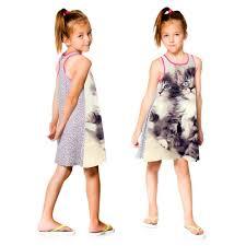 2017 dress nice girls dresses summer style big brand print