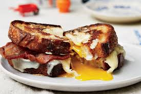 egg in a hole sandwich with bacon and cheddar recipe epicurious com