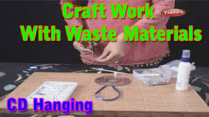 cd hanging craft work with waste materials learn craft for