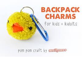 mollymoocrafts pom poms bag charms u0026 keyrings