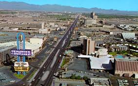 Las Vegas Strip Map Hotels by 1975 Las Vegas Strip On The Left Is The Frontier Hotel Casino