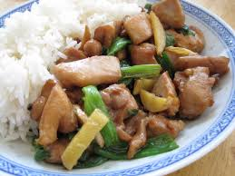 stir fried chicken with ginger and scallions cooking with alison