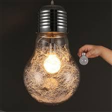Light Bulb Pendant Modern Pendant Light Led Big Bulb Pendant L Glass Lshade
