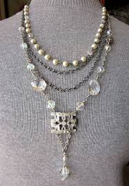 silver crystal vintage necklace images 320 best chandelier jewelry images jewelry ideas jpg