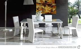dining room set modern white modern dining room sets z chairs tempered glass set bauapp co