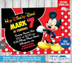 mickey mouse birthday invitation 4 templatemansion on deviantart