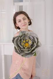 big grey rose flower decor wedding floral bouquet artificial