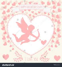 you it you buy it s day heart happy valentines day greeting card cupidon stock vector 350596565