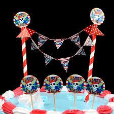 Pirate Cake Decorations Popular Diy Cake Flag Cartoon Pirate Cake Wrapper Birthday Party