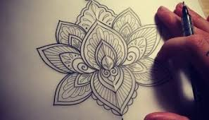 beautiful mandala lotus tattoo stencil design