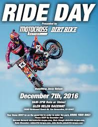 motocross action 2016 motocross action u201cindustry ride day u201d on dec 7 at glen helen