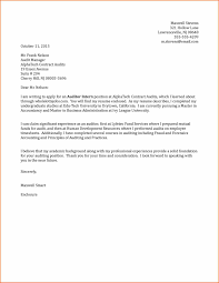 best ideas of accounting cover letter internship no experience