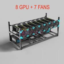 adresse si e air shop 8 gpu 7 fans aluminum stackable open air mining rig