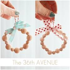 diy wood bead ornaments the 36th avenue