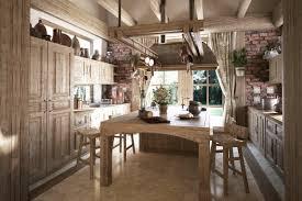 interior dashing rustic traditional scandinavian kitchen