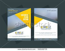 business tri fold flyer template corporate stock vector 210213067