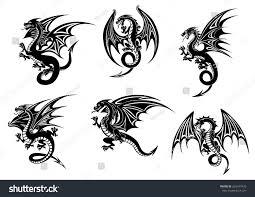black dragons mascot design stock vector 2018